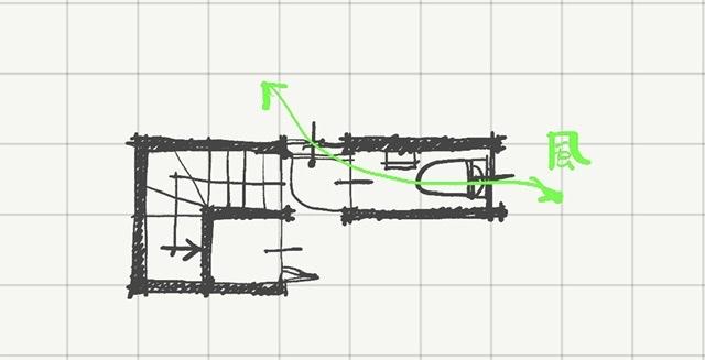 廊下とトイレに風の通り道を作る